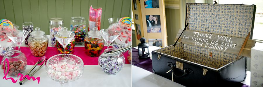 Candy table at CASO Railway Station St. Thomas ON Wedding Photography