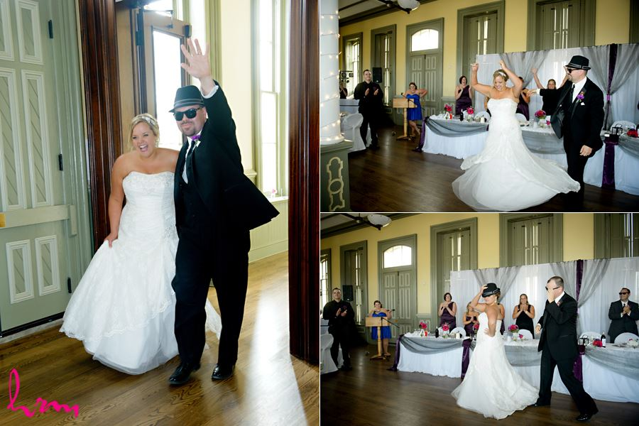 Mallory and Will enter CASO Railway Station St. Thomas ON Wedding Photography