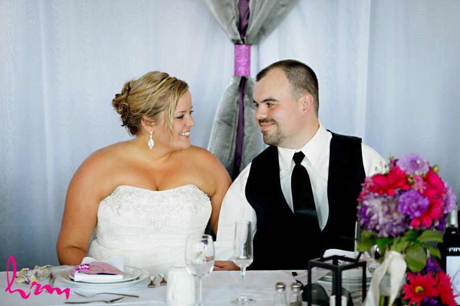 Mallory + Will head table CASO Railway Station St. Thomas ON Wedding Photography