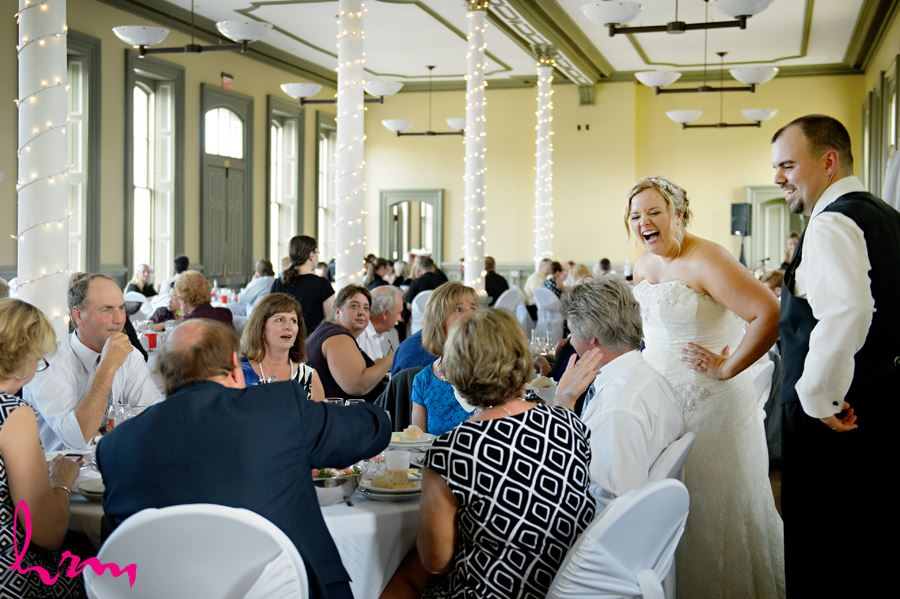 Guests at CASO Railway Station St. Thomas ON Wedding Photography