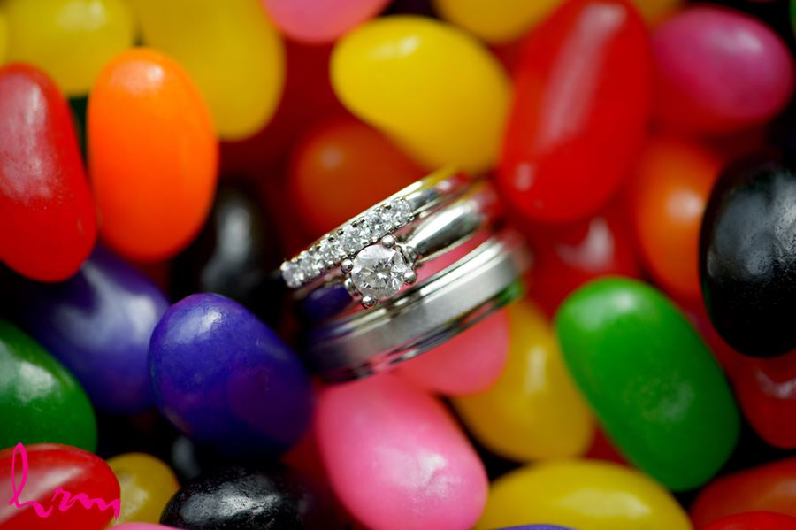 Wedding rings in jellybeans St. Thomas ON Wedding HRM Photography