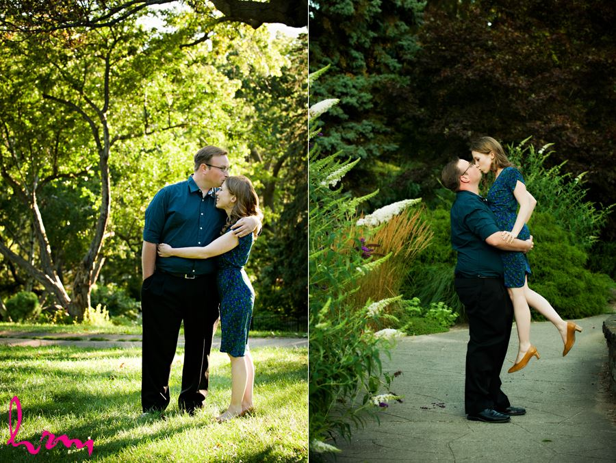 Fiance carrying and kissing his bride to be in Toronto Ontario