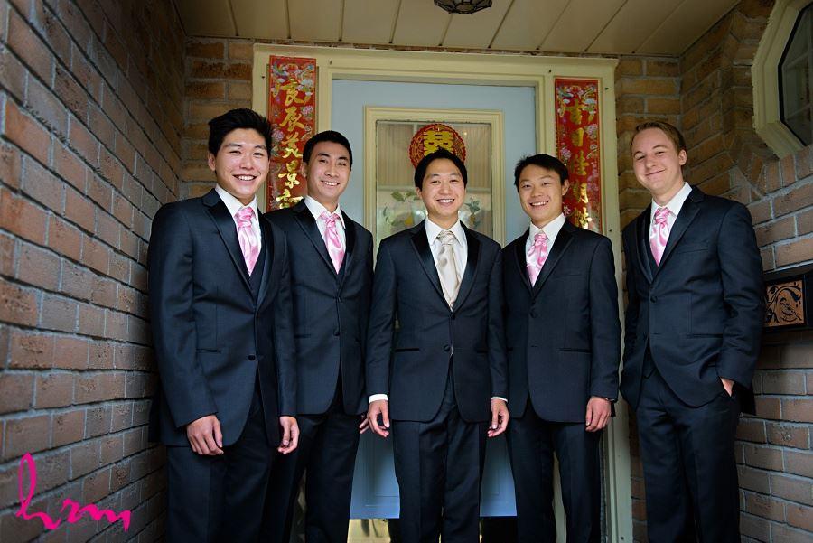 Michael and groomsmen Toronto ON Wedding Photography