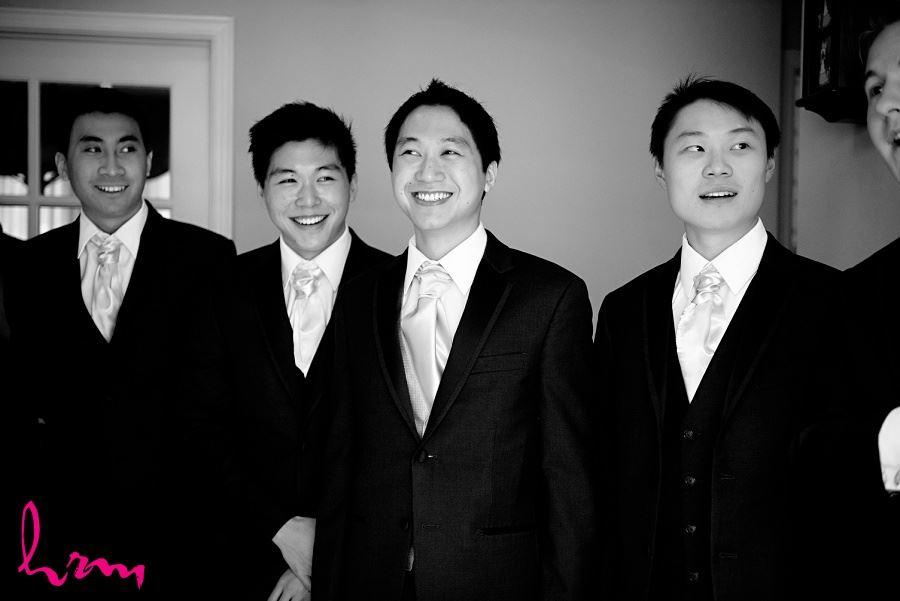 Michael and groomsmen before wedding Toronto ON Wedding Photography