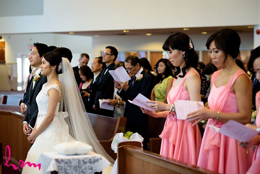 Guests at Chinese Martyrs Catholic Church Toronto ON Wedding Photography