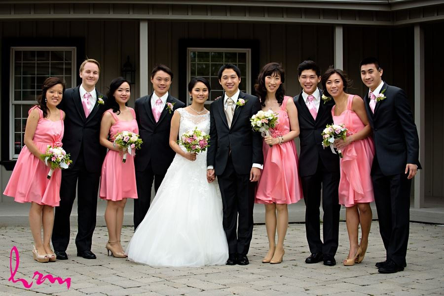 Bridal party in Unionville Toronto ON Wedding Photography