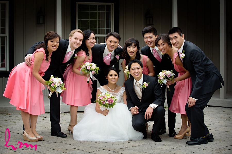 Bridal party in Unionville Toronto ON Wedding HRM Photography
