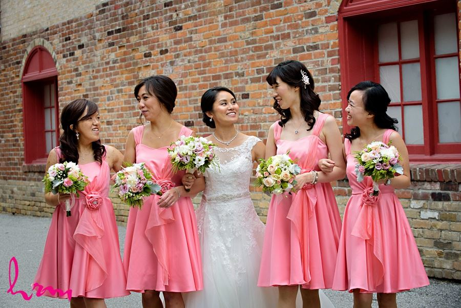 Natalie and bridesmaids in Unionville Toronto ON Wedding Photography