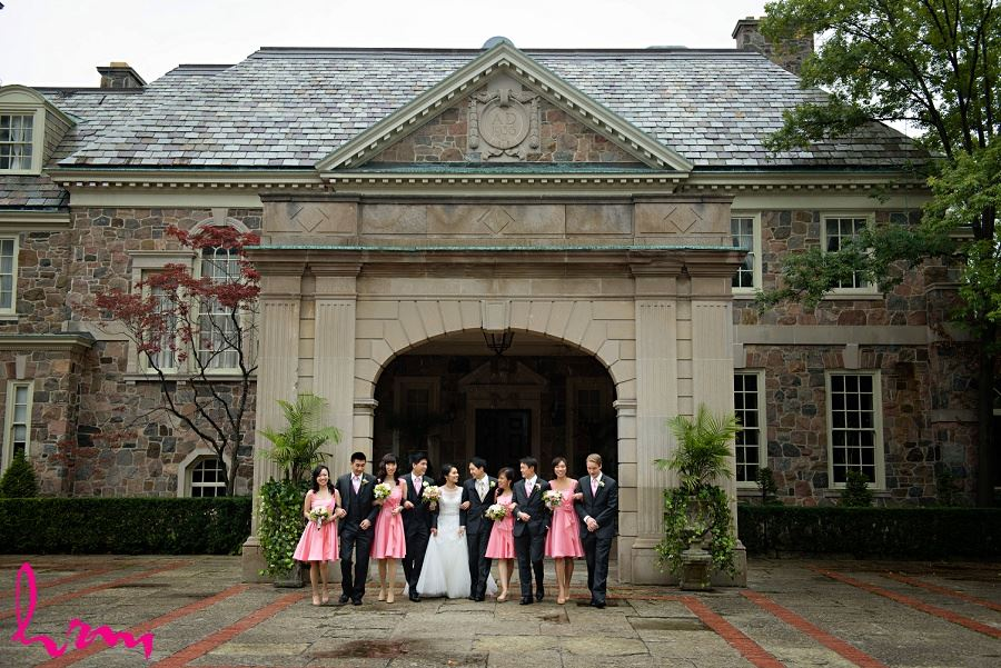 Bridal party outside Graydon Hall Manor Toronto ON Wedding HRM Photography