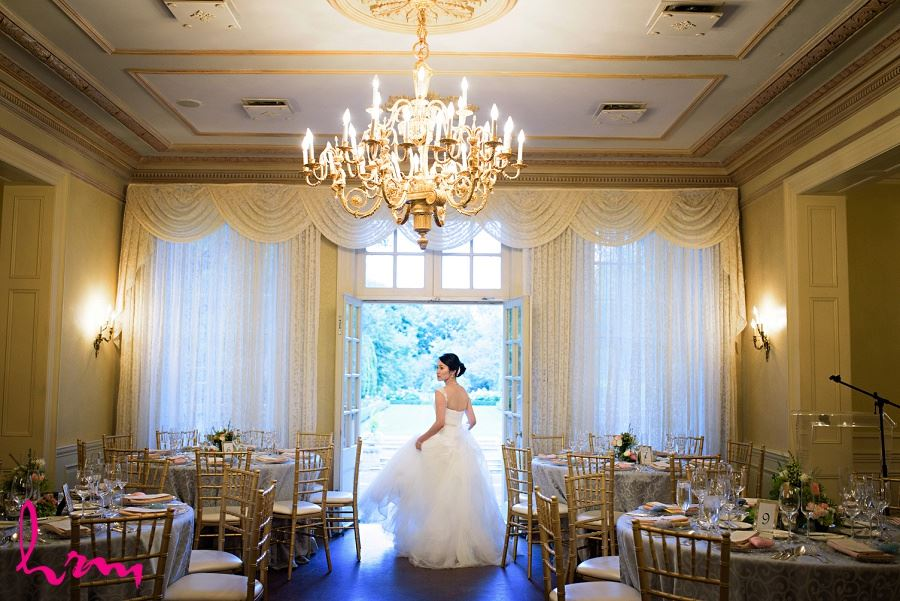 Natalie in dining room at Graydon Hall Manor Toronto ON Wedding Photography