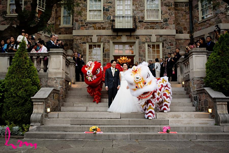 Dragons at Natalie and Michael wedding Graydon Hall Manor Toronto ON Wedding Photography