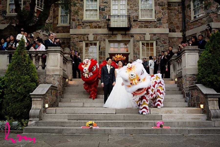 Dragons at Natalie and Michael wedding Graydon Hall Manor Toronto ON Wedding Photography