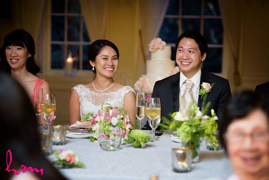 Natalie + Michael head table Graydon Hall Manor Toronto ON Wedding Photography