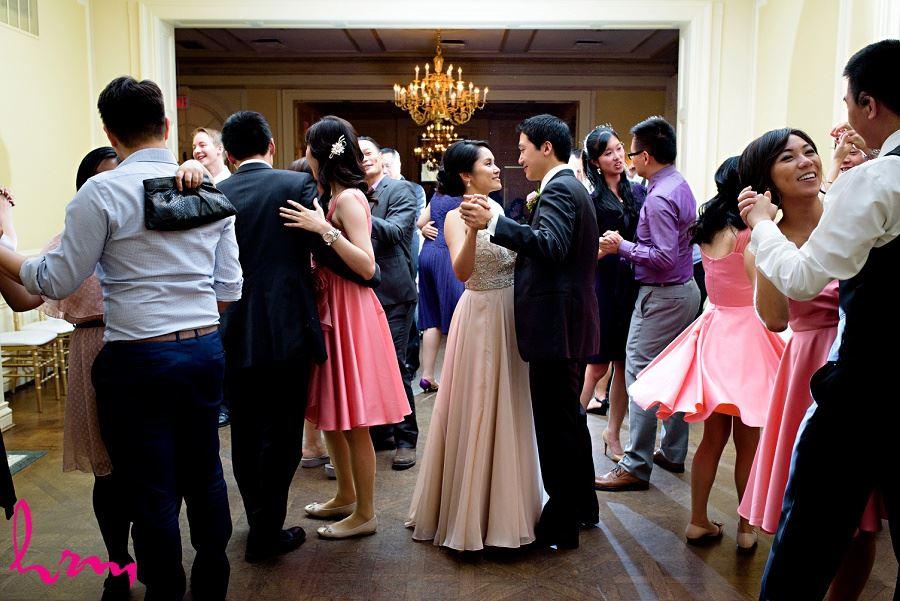 Dancing with guests Graydon Hall Manor Toronto ON Wedding HRM Photography