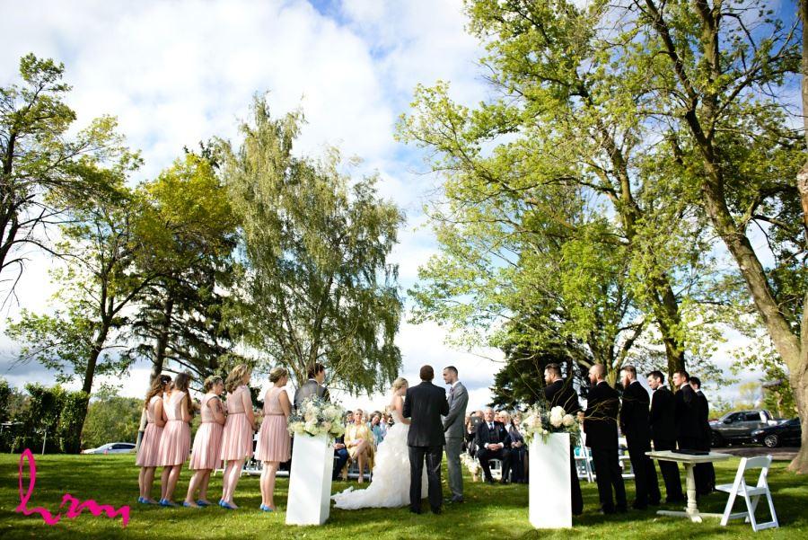 Waterdown Ontario outdoor farm wedding ceremony