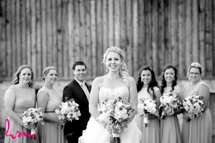 Bridal party with one male member