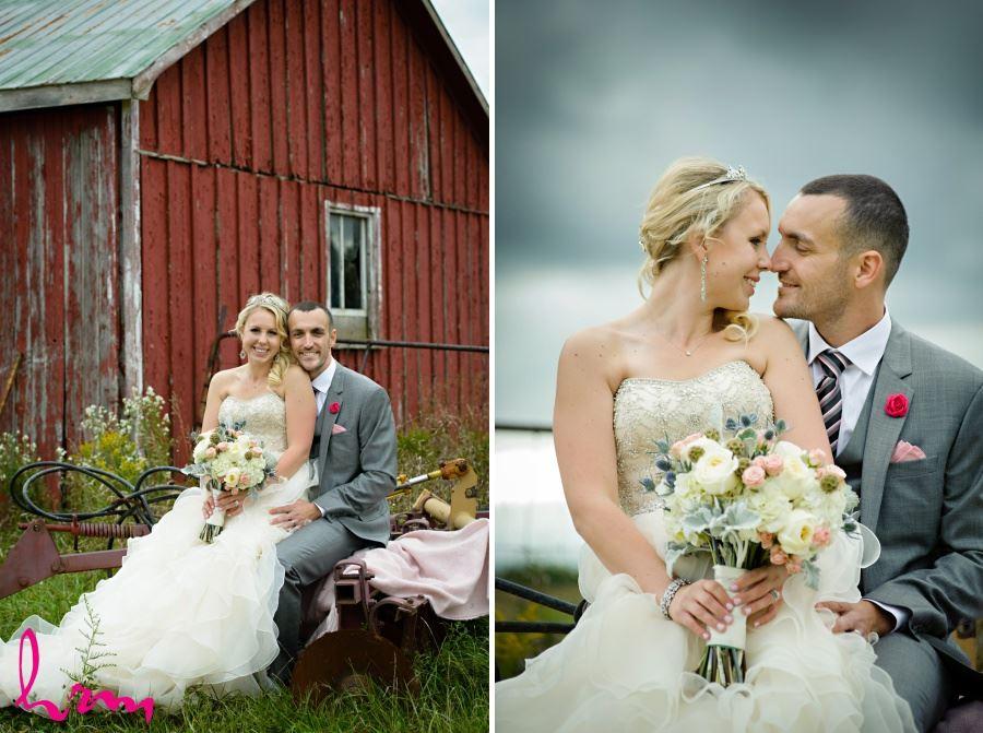 Farm wedding in Waterdown Ontario