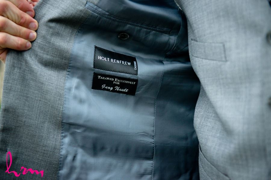 Holt Renfrew personalized groom's suit exclusively tailored for...