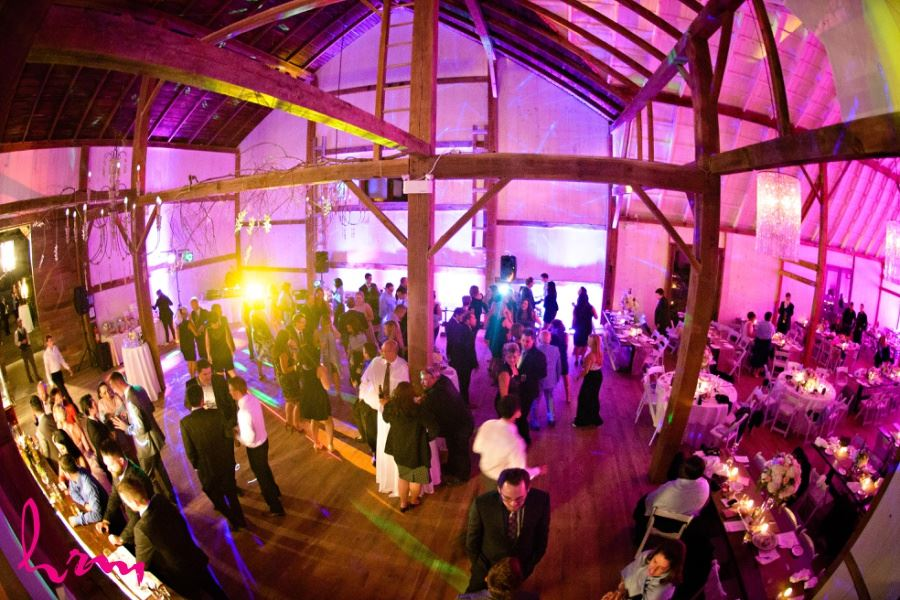 Wedding reception at Waterdown Ontario barn