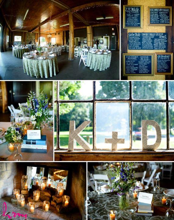 Literary book themed wedding reception decor ideas