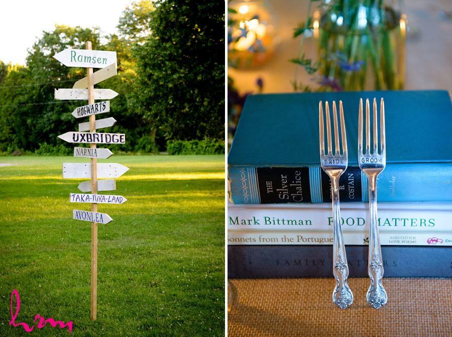 stamped forks bride and groom