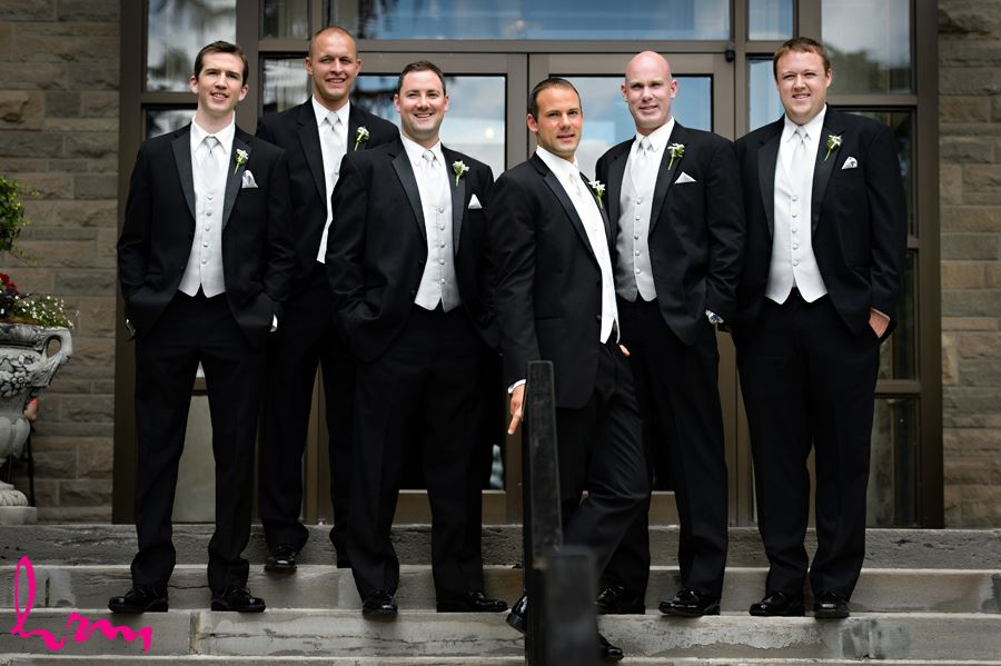 groom with groomsmen in London Ontario