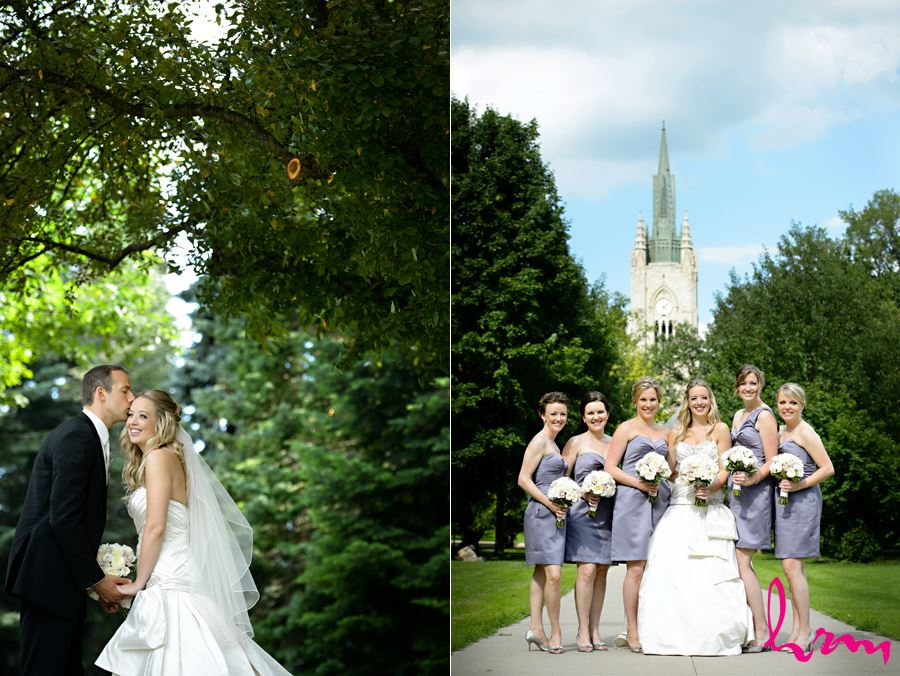 Bride and her bidesmaids at Western University
