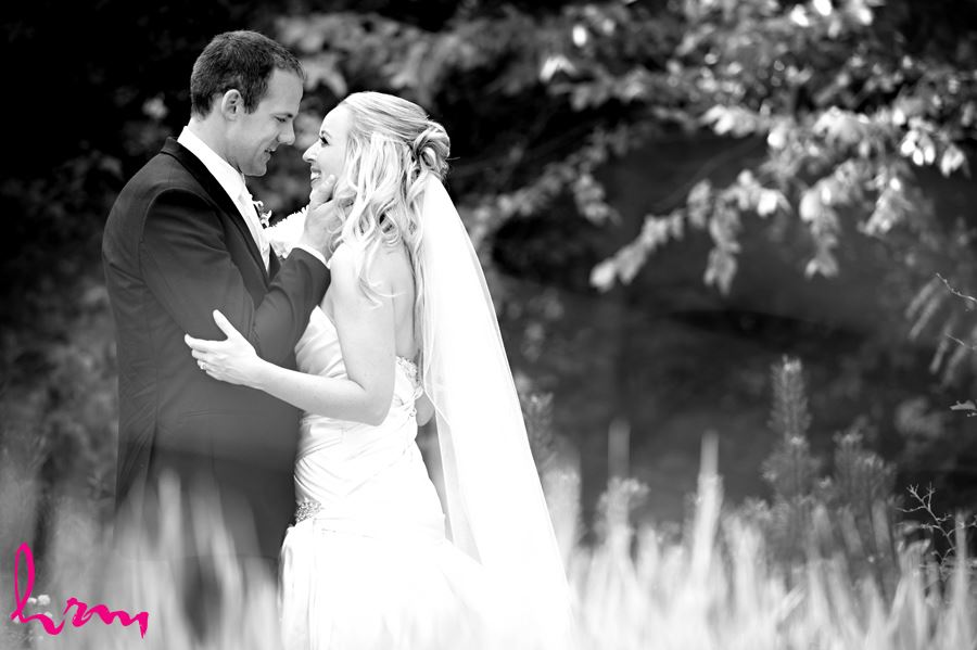 Beautiful bride and groom in London Ontario