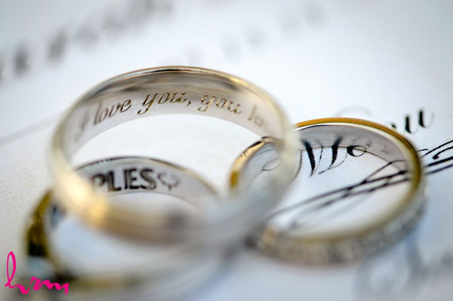 Engraved wedding rings in London Ontario