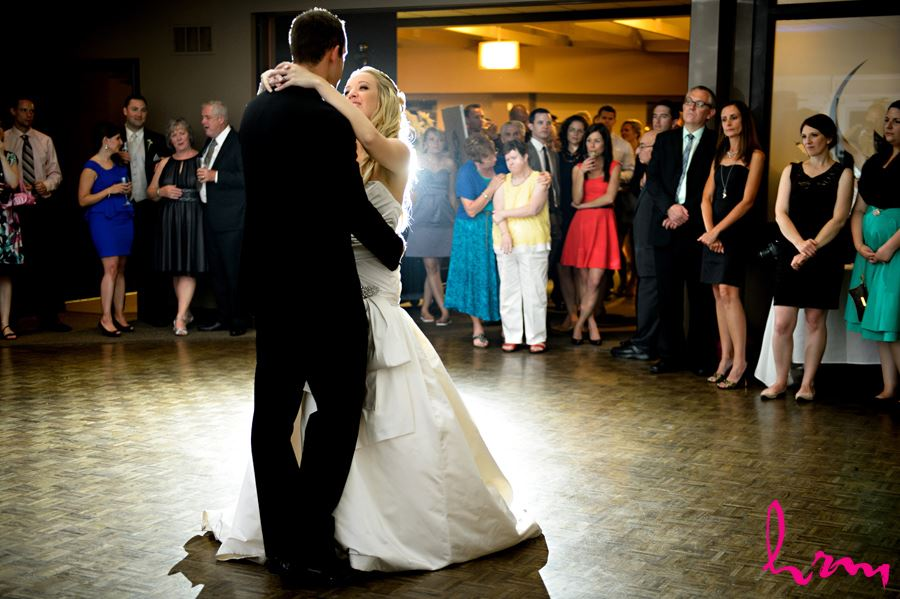 Beautiful bride and groom first dance at West Haven Golf in London Ontario