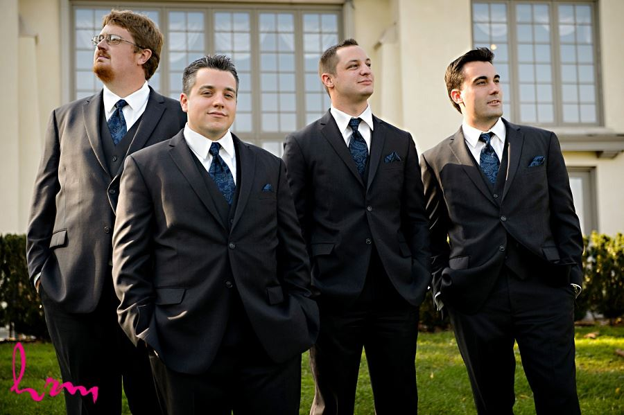 Matt and groomsmen outside Windermere Manor London ON Wedding Photography
