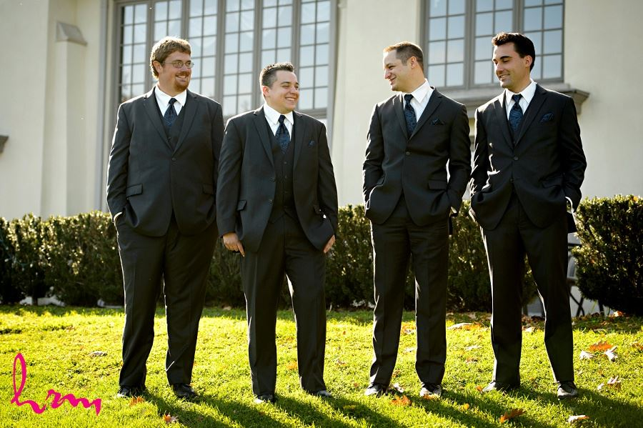 Matt and groomsmen outside Windermere Manor London ON Wedding HRM Photography