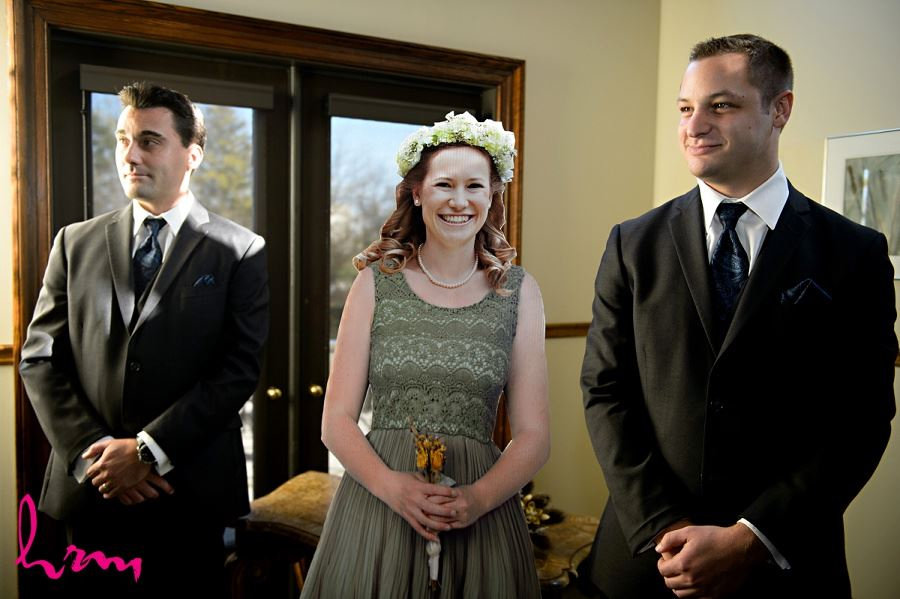 Cardboard cutout of maid of honour Windermere Manor London ON Wedding Photography
