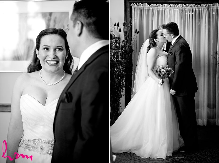 The kiss at Windermere Manor London ON Wedding Photography