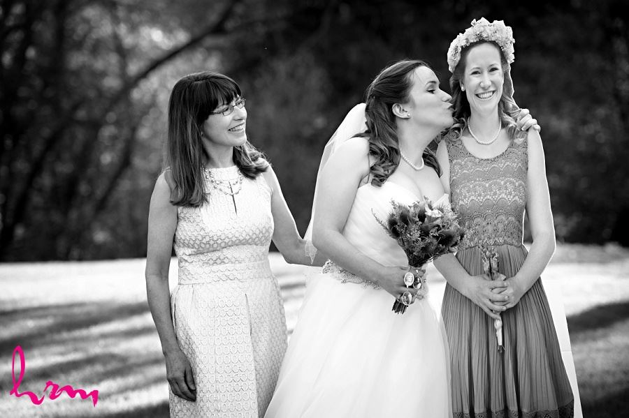 Bride, mother and maid of honour at Windermere Manor London ON Wedding Photography