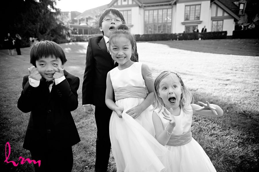Flowergirls and ring-bearers outside Windermere Manor London ON Wedding Photography