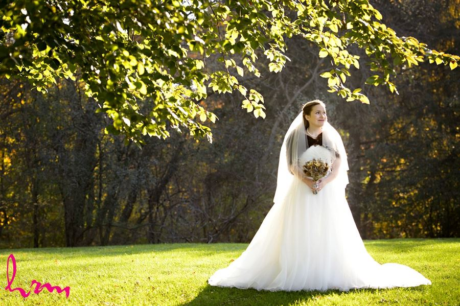Grace outside Windermere Manor London ON Wedding HRM Photography