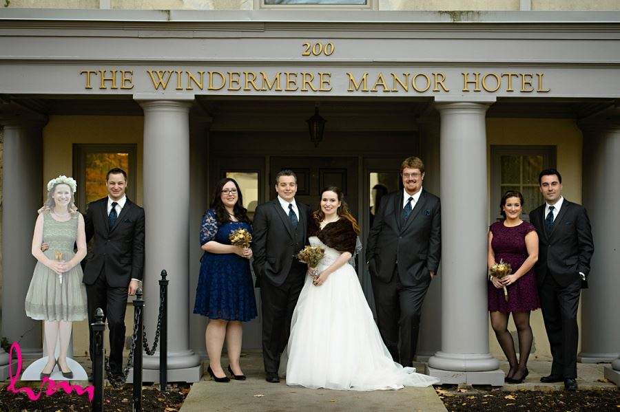 Bridal party outside Windermere Manor London ON Wedding HRM Photography