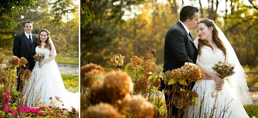 Grace + Matt in field Windermere Manor London ON Wedding Photography