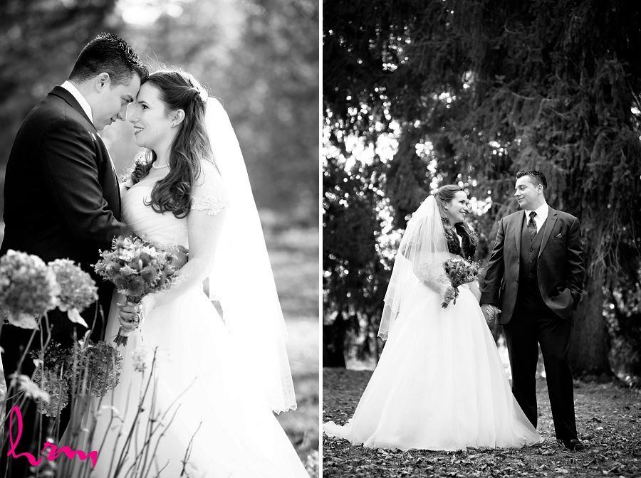 Grace + Matt walking Windermere Manor London ON Wedding Photography