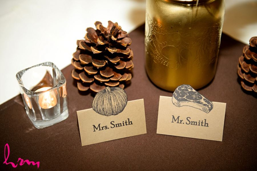 Name signs at Windermere Manor London ON Wedding Photography