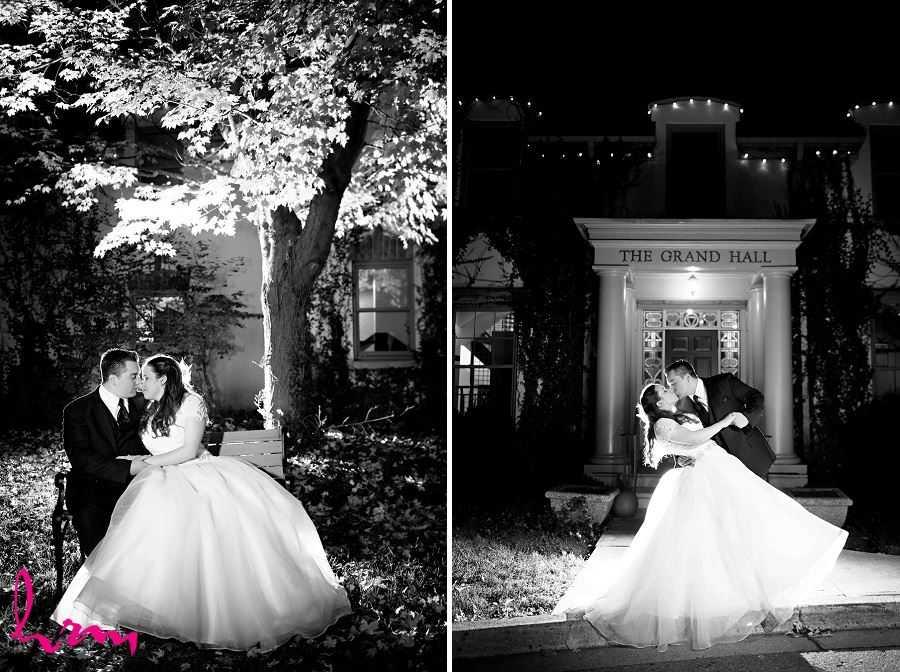 Grace and Matt in moonlight at  Windermere Manor London ON Wedding Photography