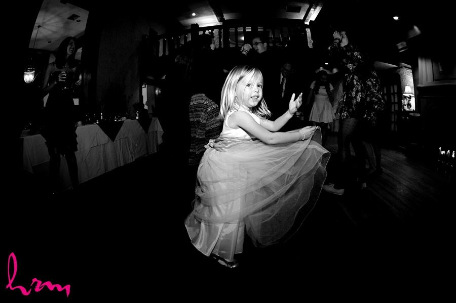 Flowergirl dancing at Windermere Manor London ON Wedding HRM Photography