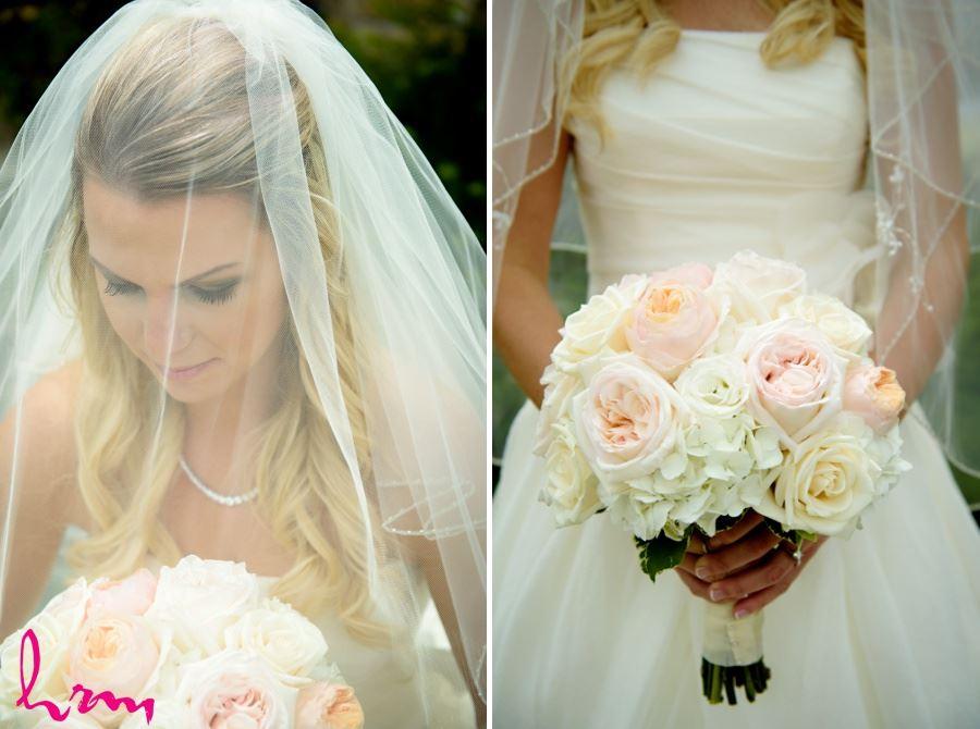 Bride in crystal embellished veil