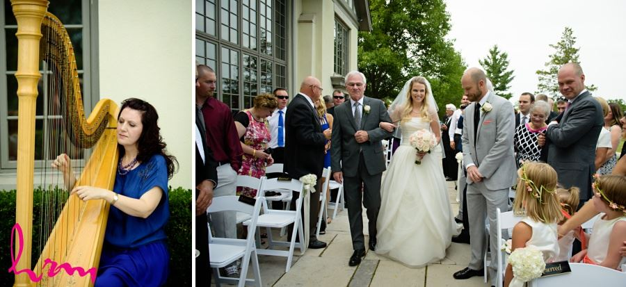 Windermere Manor London Ontario wedding ceremony with harp