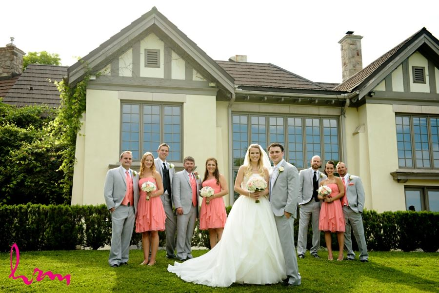 Wedding party in front of Windermere Manor London Ontario