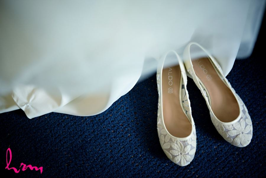Aldo wedding day shoes with flowers