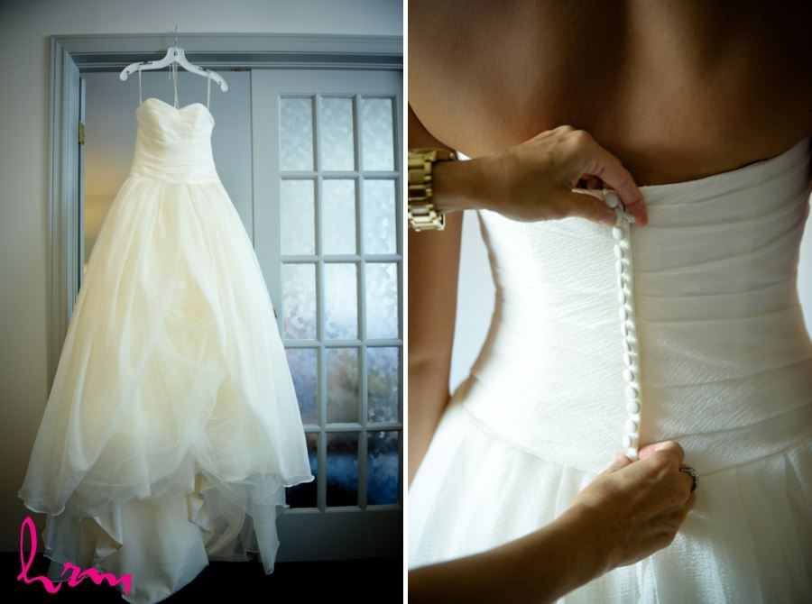 wedding dress tiny buttons
