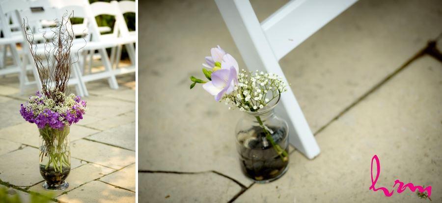 wedding ceremony decor outdoor ceremony purple