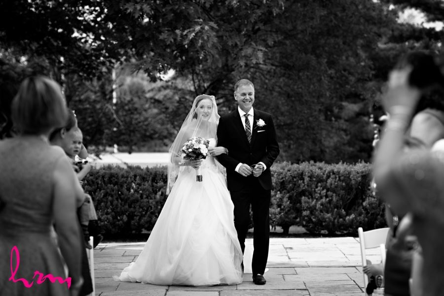 bride walking down aisle windermere manor london ontario